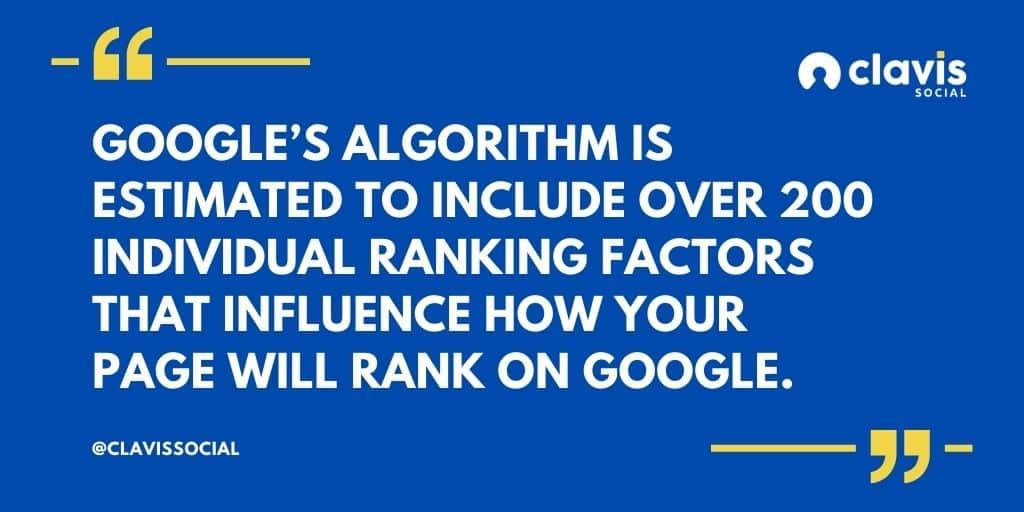 Google search algorithm quote
