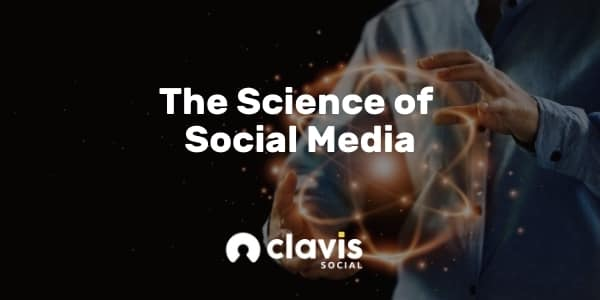 the science of social media graphic. Man holding a galaxy in his hands